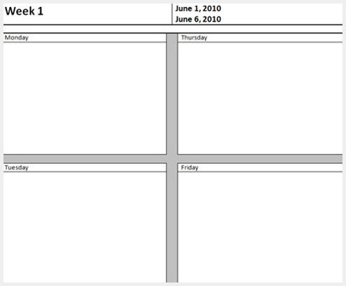 excel月工作计划模板